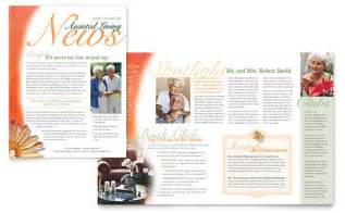 Healthcare Newsletter Templates by Newsletters Elder Care Templates Designs