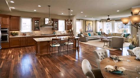 open floor plan living room kitchen dining youtube