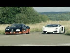 Race Between Bugatti And Ultra Hd 4k 308 Km H Race Lamborghini Aventador Vs Bugatti