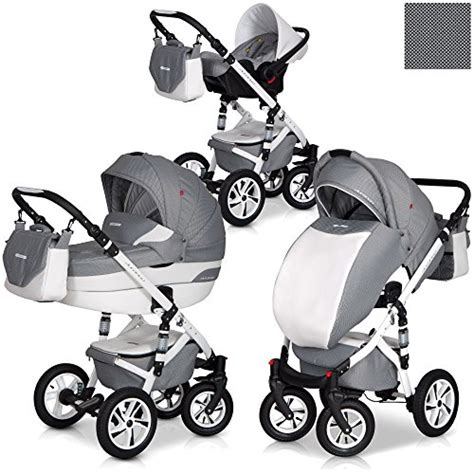 Tintin Gramed Lebar 3in1 Kombi Kinderwagen Durango Titanium Set Leder Version