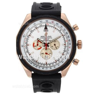 Tag Heuer Pendulum Rubber Black Rosegold Matic replica breitling chrono matic working chronograph gold with white rubber