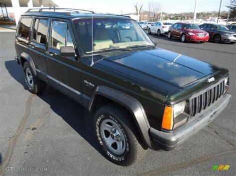 dark green jeep cherokee 1995 dark green jeep cherokee 4x4 74925470 gtcarlot com