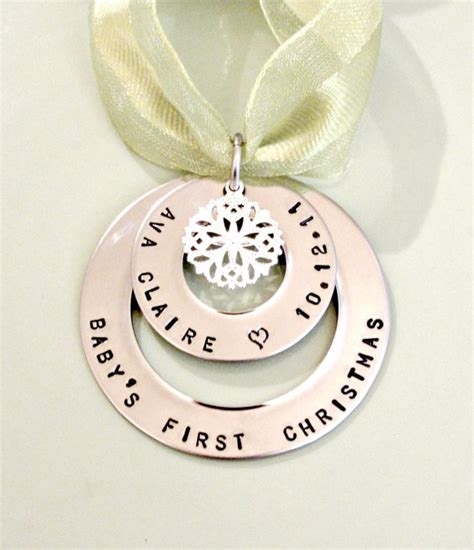 personalized baby ornaments first christmas