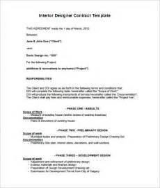 interior design letter of agreement template 6 interior designer contract templates free word pdf