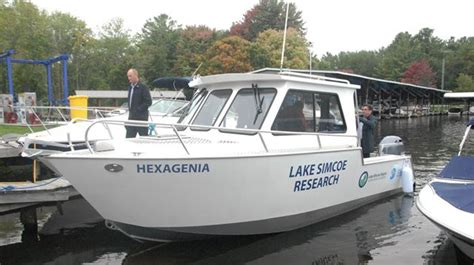 boat launch innisfil new research vessel launched in innisfil to monitor lake