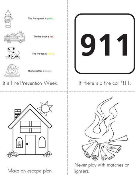 fire prevention week mini book from twistynoodle com