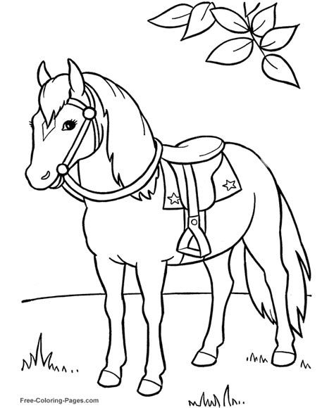 Coloring Of Horses by Coloring Book Pictures Of Horses To Print