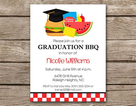 bbq invitation template graduation bbq invitation bbq invitation graduation cookout