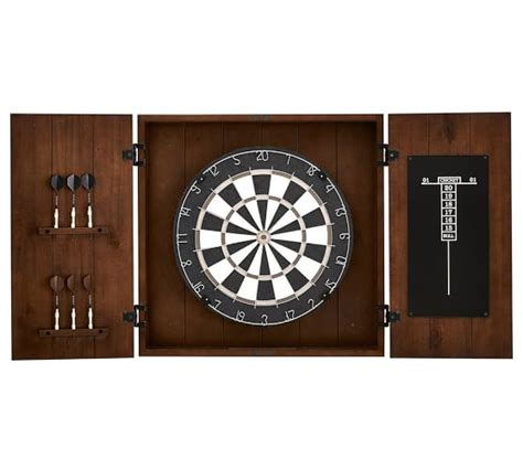 handmade dart board cabinet dartboard wood cabinet set pottery barn