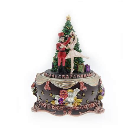 gisela graham nutcracker christmas tree music box