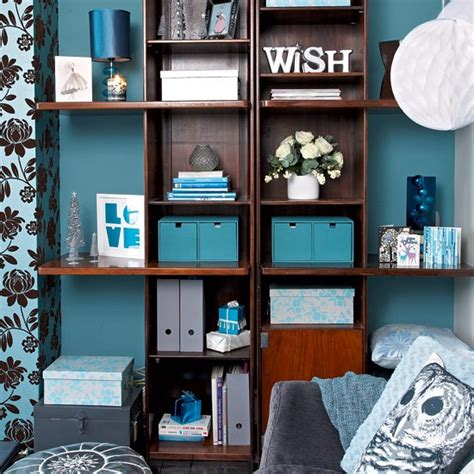 Living Room Shelf Accessories Accessories In Complementary Shades Colourful Living