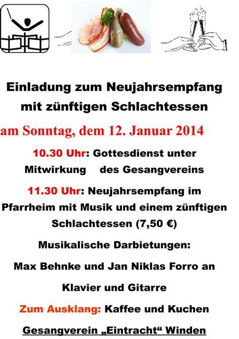 Muster Einladung Zum Neujahrsempfang Wir In Winden Die Gemeinde Informiert Ihre B 252 Rger