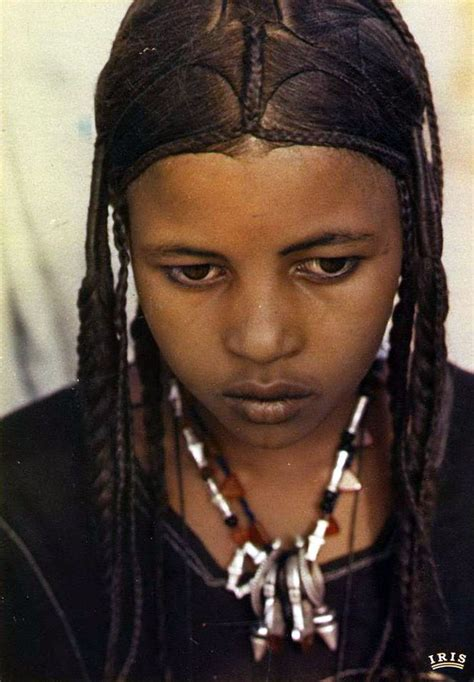 gambian hairstyles africa young tuareg girl niger scanned postcard