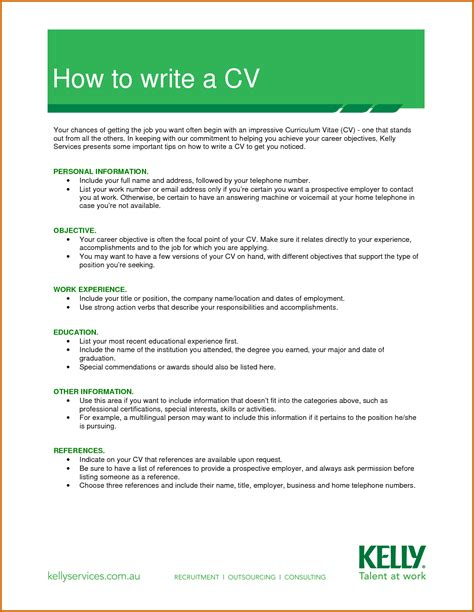 write cv template 11 how to write cv form lease template