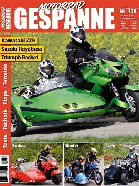 Motorrad Gespann Aufkleber by Motorrad Gespanne 138 November Dezember 2013 Motorrad