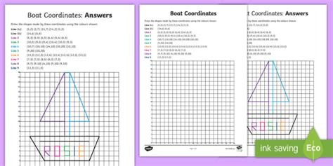 boat pictures twinkl new boat coordinates picture activity sheet
