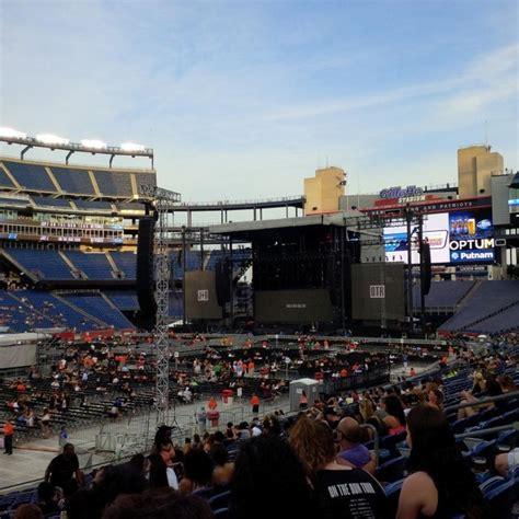 section 135 gillette stadium gillette stadium section 135 concert seating