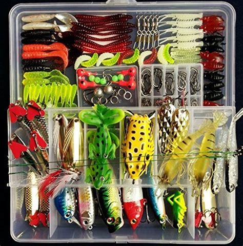 Free Fishing Tackle Giveaway - fishing tackle lots portablefun fishing baits kit set with free tackle box for
