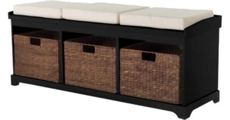 closetmaid bench cushion entryway bench with 3 baskets cushions entryway bench