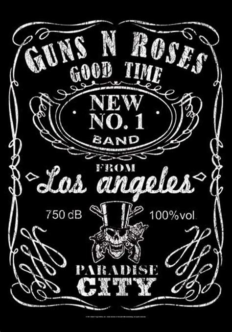 Rock Home Decor by Guns N Roses Fabric Poster