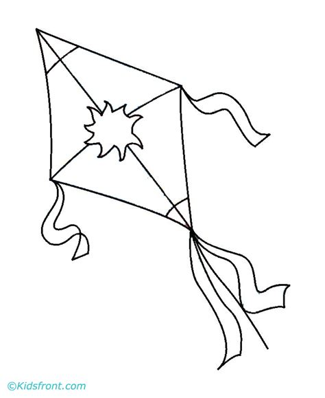 free coloring pages of kite