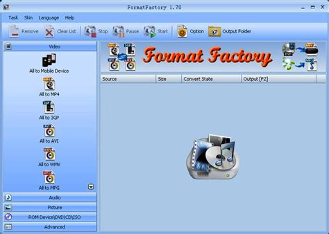 format factory download for pc free format factory 3 9 5 0 audio video photo downloads