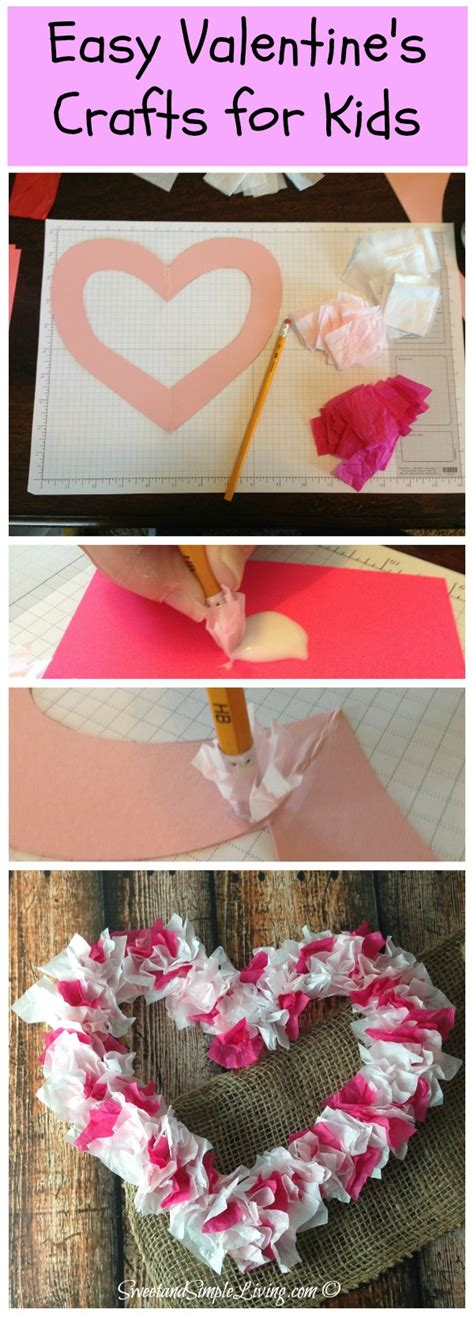 Valentines Paper Crafts - valentines crafts for tissue paper sweet and