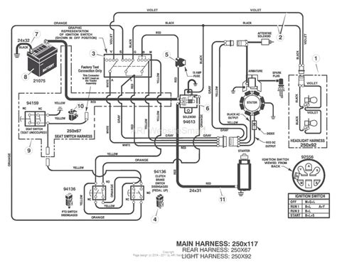 lawn mower wiring schematics mower wiring diagram