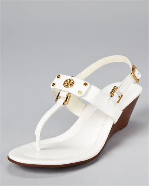 white burch sandals burch sandals robinson demi wedge in white black lyst