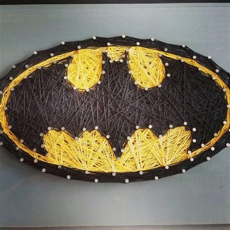 Batman String Pattern - custom string on wooden plaque batman