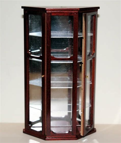 Furniture The Doll House Part 2 Mahogany Display Cabinets With Glass Doors