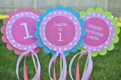 Green And Purple Home Decor by Centerpiece Sticks Girls 1st Birthday Party Decorations
