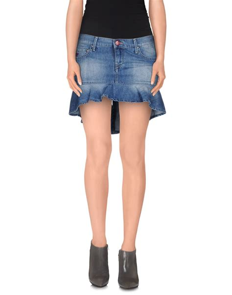 0 zero construction denim skirt in blue lyst
