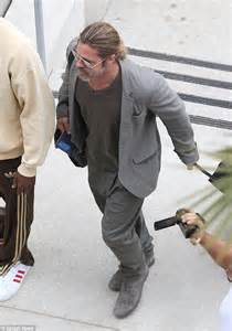 Brad May Move To Washington Dc by Brad Pitt Goes For Comfort Style As He Arrives Back