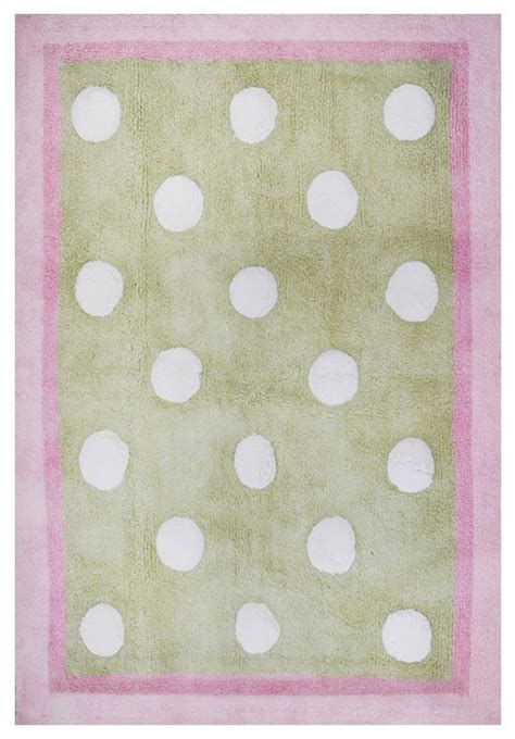 Baby Rug by Pixie Baby Rug In Pink And Green Modern Rugs By