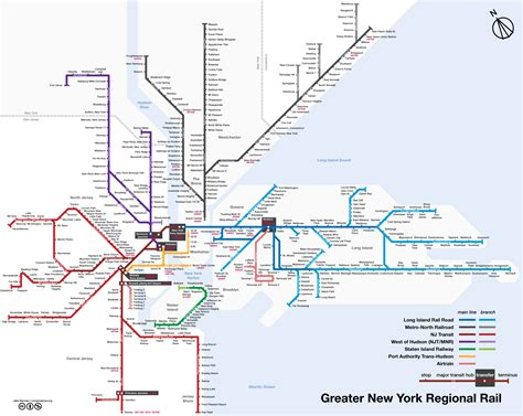 New York City Train Map by Map Of Nyc Commuter Rail Stations Amp Lines