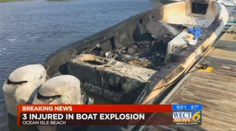 boat explosion ocean isle beach owner pumps gas into rod holder boat explodes at fuel