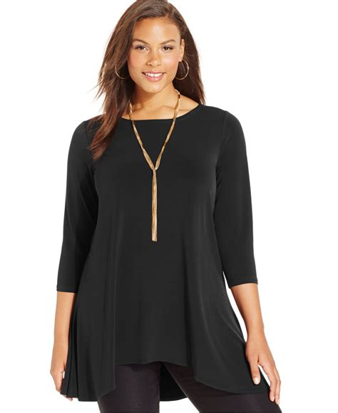 plus size swing tops alfani plus size swing top only at macy s in black deep