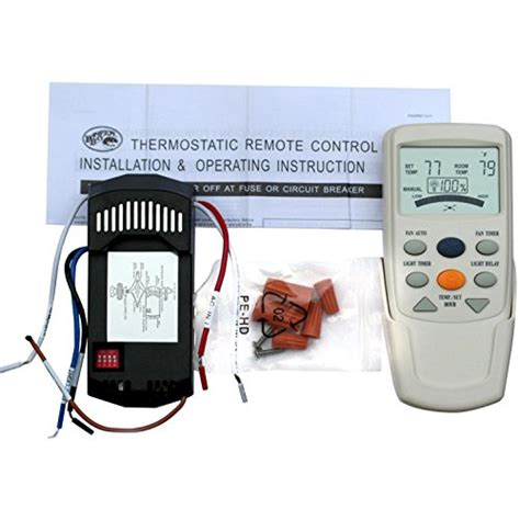 thermostat controlled ceiling fan hton bay ceiling fan lcd thermostatic remote control