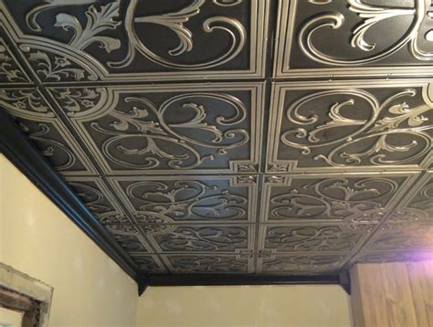 how to tile a ceiling 1000 ideas about tin ceiling tiles on metal
