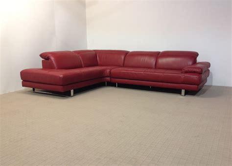 natuzzi red leather sofa natuzzi edition metropolitan ruby red corner sofa