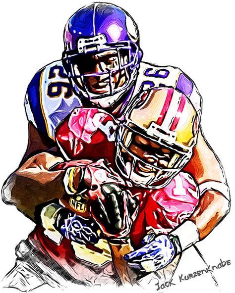 49ers Sketches by Minnesota Vikings Antoine Winfield San Francisco 49ers