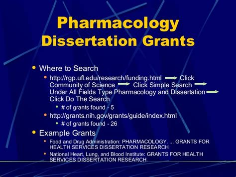 funding for dissertation research dissertation presentation grants powerpoint presentation