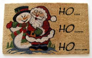 Carpet Doormat Beautiful Christmas Holiday Rugs Home Designing