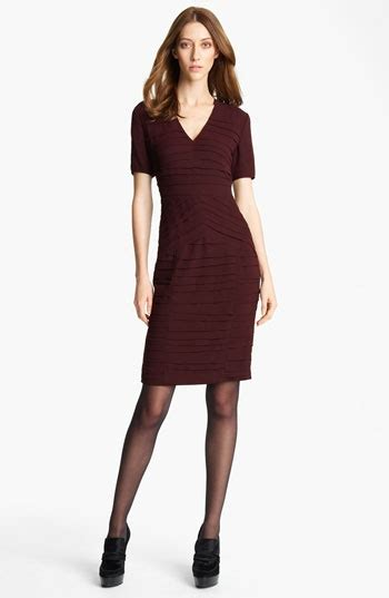 Hem Burberly Wm 006 burberry pleated georgette dress f w12 trend burgundy shopping burberry