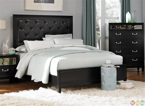 contemporary black bedroom furniture black finish contemporary bedroom set
