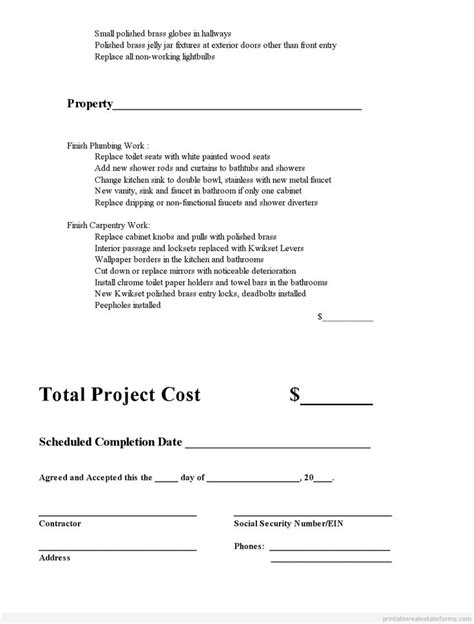 subcontractor bid form template 35 best images about company on a business