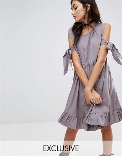 Hem Swan Mustrad casual cold shoulder dresses on trend for summer 2017