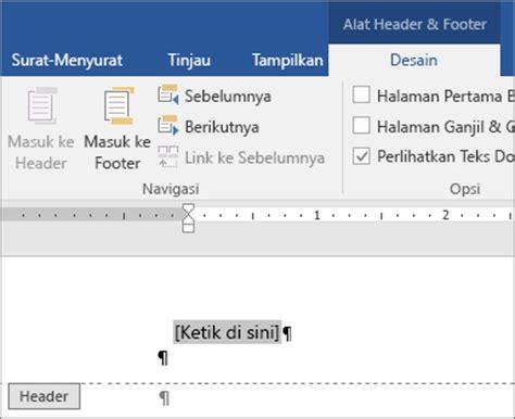 desain header dan footer menambahkan gambar ke header atau footer word
