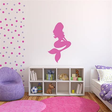 mermaid wall sticker mermaid vinyl decal mermaid decals for walls